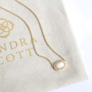 """Kendra Scott """"Chelsea"""" Gold & M.O.Pearl Necklace"""